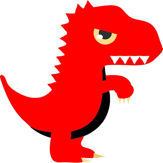 красный динозавр