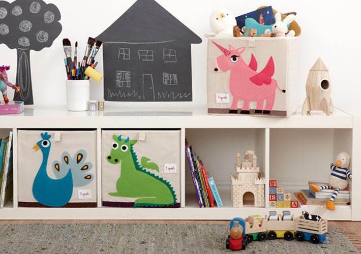Коробки 3 Sprouts — ещё одно и востребованное решение для хранения детских вещей.