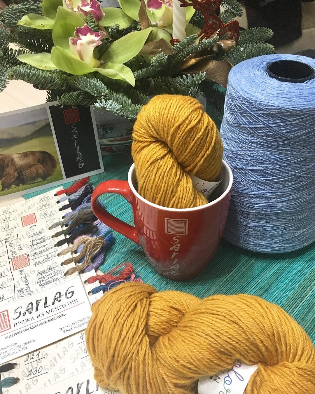 пряжа color yarn и sarlag