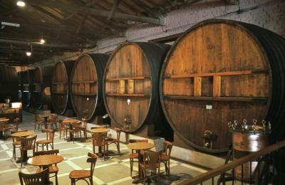 Вино в дубовых бочках
