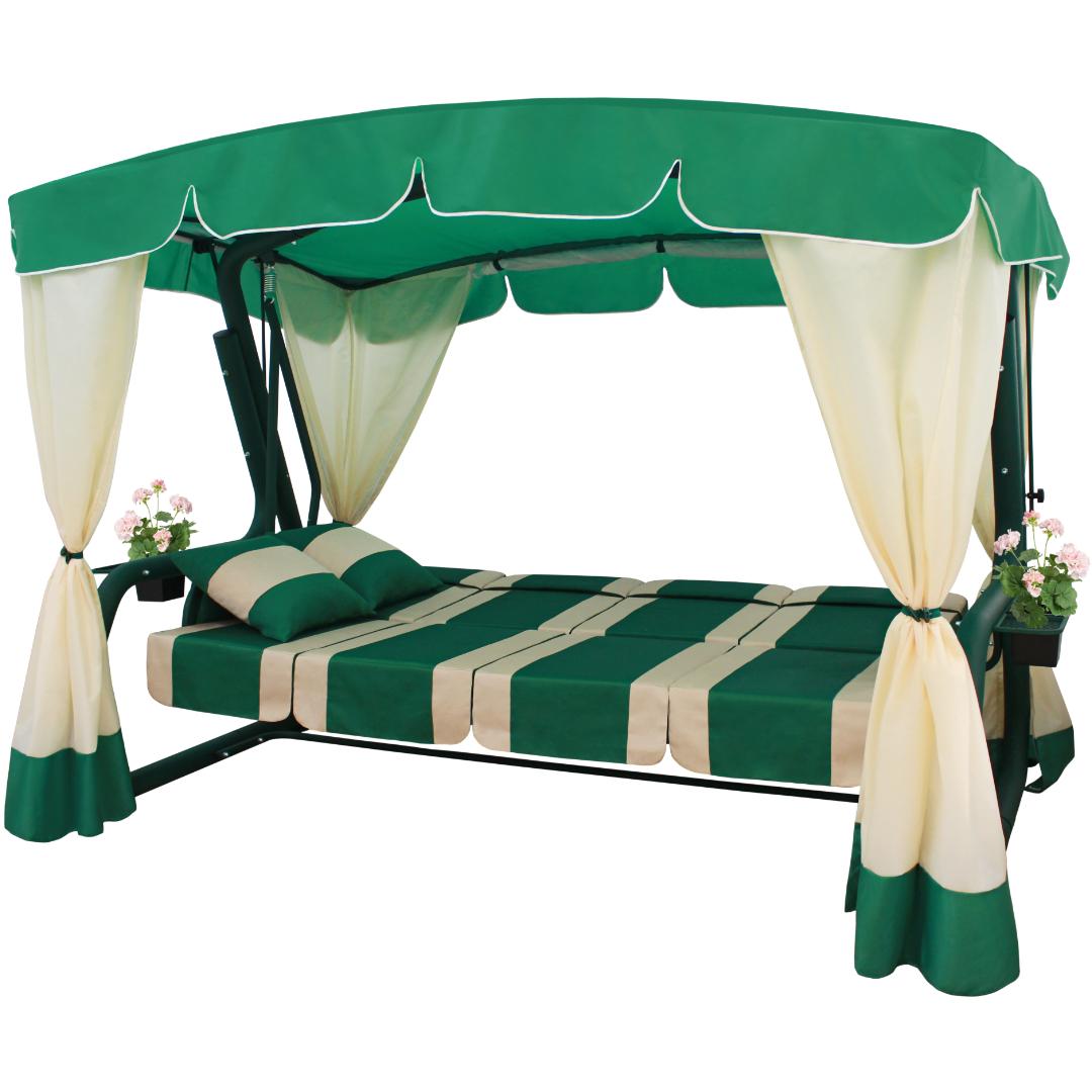 Эдем Люкс зеленый2 кровать