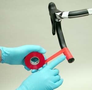 Обмотка дропов руля изолентой перед наложением обмотки