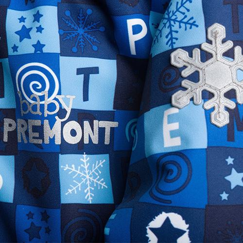 Светоотражатели для темного времени суток на зимнем комбинезоне Premont
