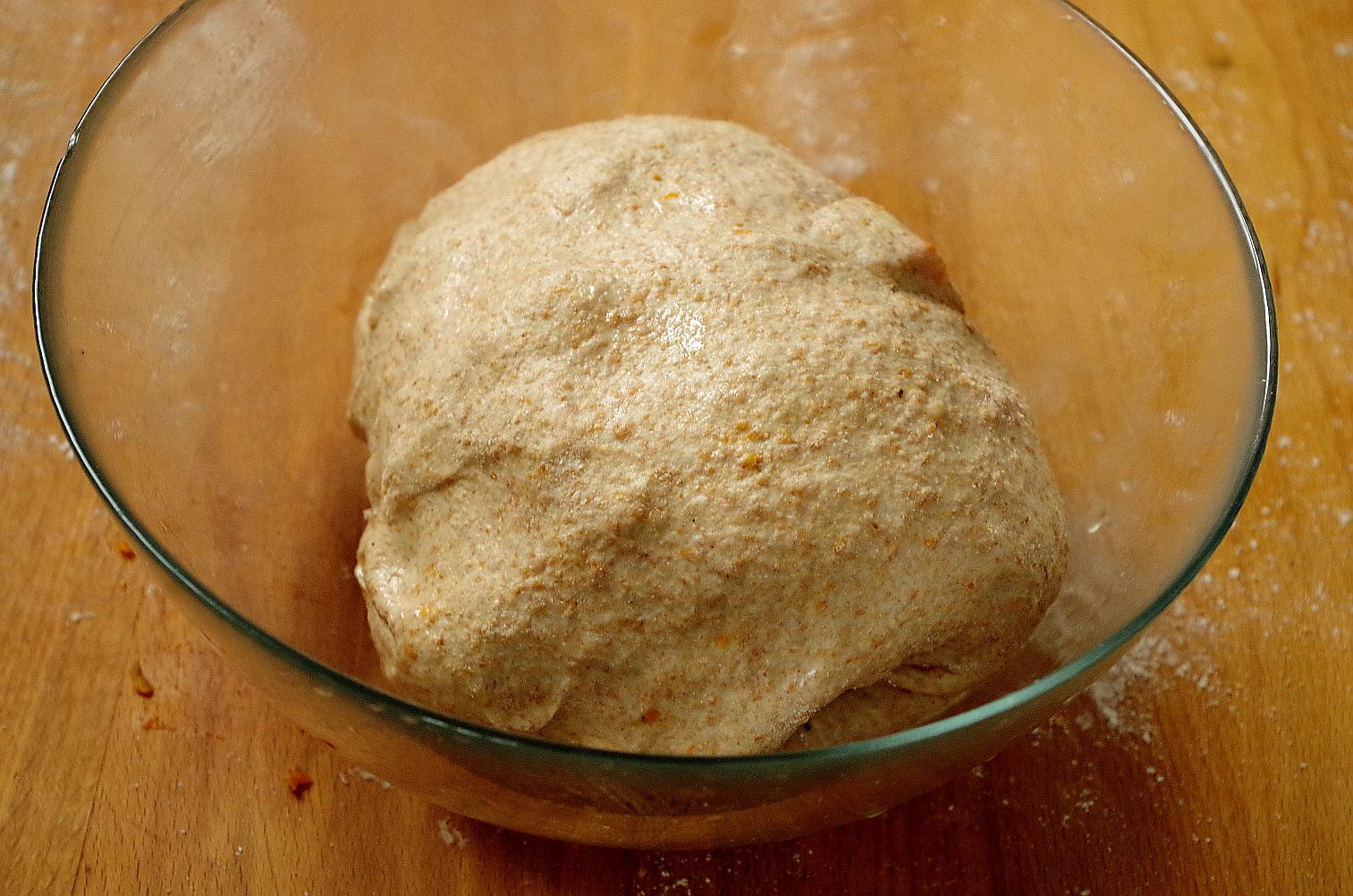 тесто в начале ферментации