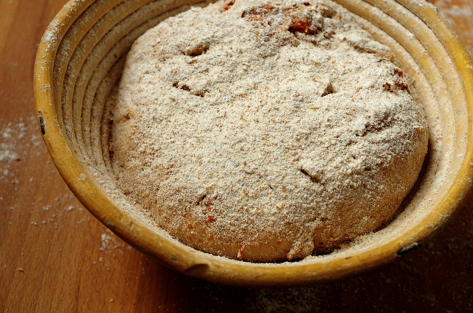 тесто в начале расстойки