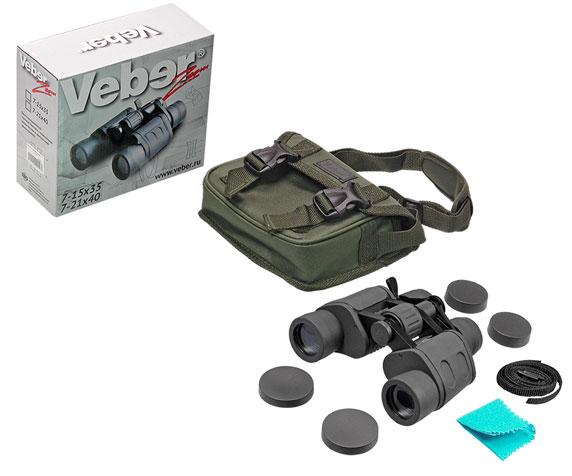 Бинокль Veber БПЦ zoom 7-15x35 - комплект поставки