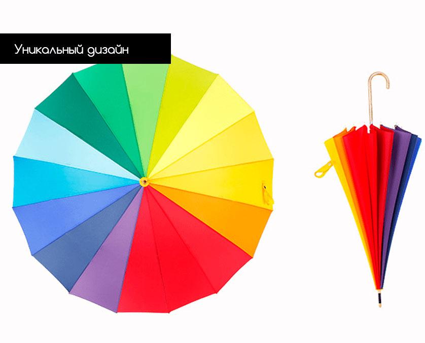 Зонт трость радуга Palmer