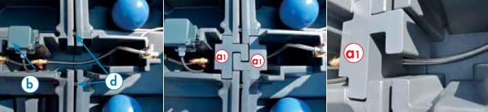 Вид сверху соединения двух поилок.