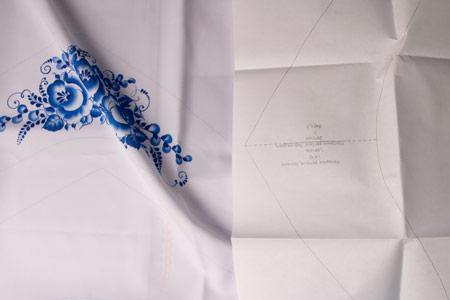 Ткань с лекалом для самостоятельного пошива от Мастерской Ангел