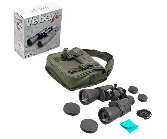 Бинокль Veber БПЦ zoom 8-32x50 - комплект поставки