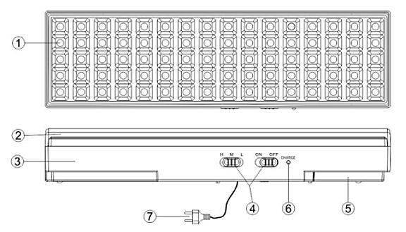 Устройство переносного аккумуляторного светильника EL18