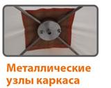 Металлические узлы каркаса палатки зимней Митек Омуль Куб