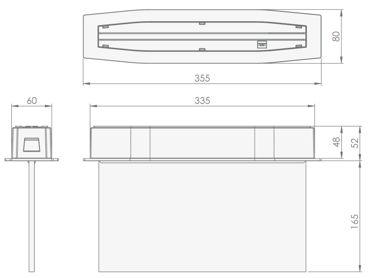 Аварийные эвакуационные световые указатели Suprema LED D-eco PT IP44 – размеры и чертеж