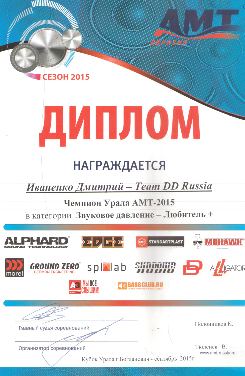 Чемпион Урала АМТ 2015г