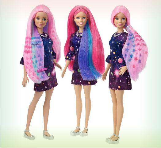 Набор для Barbie - Цветной сюрприз, с розовыми волосами