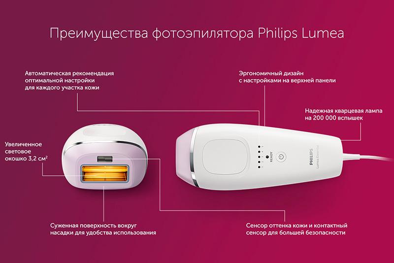Преимущества фотоэпиляторов Филипс Люмиа