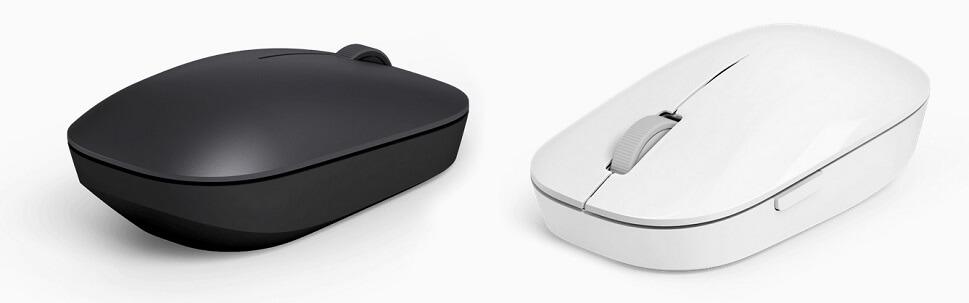черная и белая беспроводная мышка