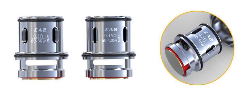 Уникальная конструкция испарителей iJOY CA2 и CA8 более подходящие для е-жидкостей с высоким VG