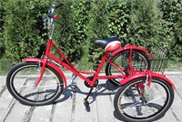 Трехколесный велосипед 'Городской с корзиной 20'