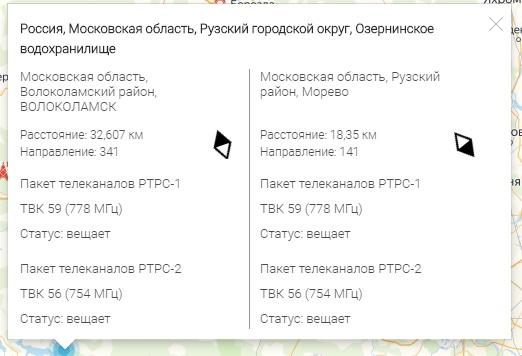 куда, в какую сторону, направить антенну для приема 20 каналов бесплатного цифрового телевидения, как собственно узнать куда повернуть цифровую антенну, где находится передатчик цифрового ТВ, и о карте приема цифрового - местонахождении, и зоне покрытия цифрового сигнала в России.