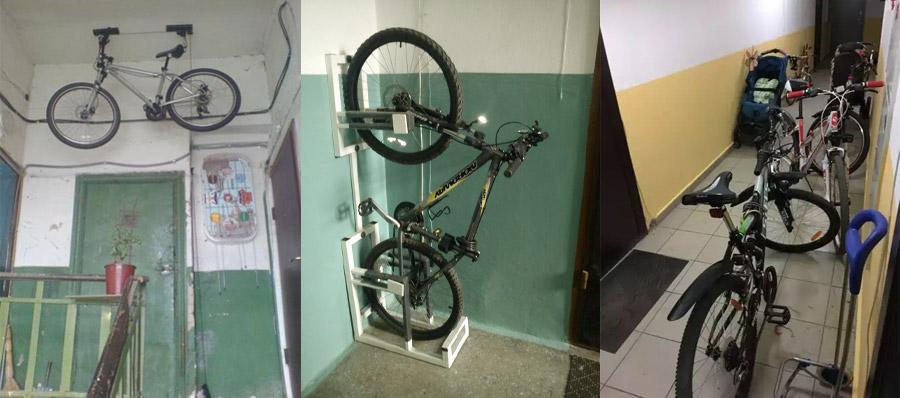 Зберігання велосипедів на сходовому майданчику і в тамбурі