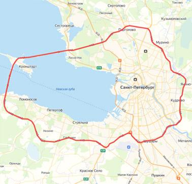 *Логистические границы Санкт-Петербурга