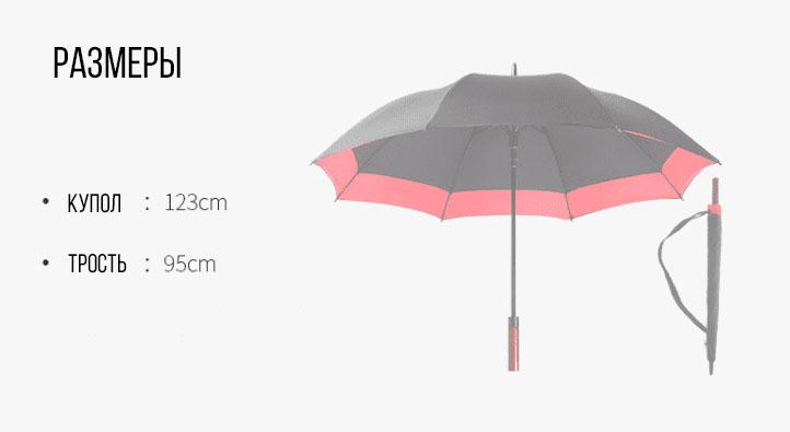 Зонт трость черно-желтый | ZC Niello
