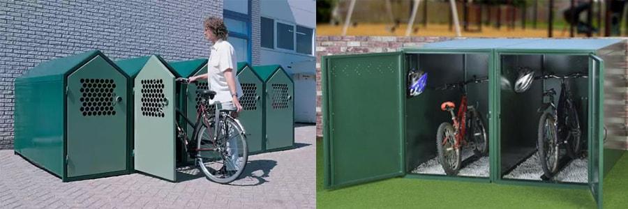 залізні гаражі для зберігання велосипедів влітку