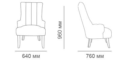 Габаритные размеры кресла Бахрома-2