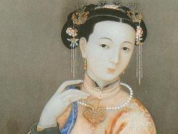 Девушка с жемчугом. Китайский рисунок.