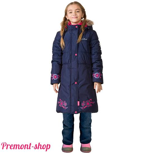 Пальто Premont для девочек Квилт Зима 2017-2018