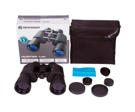 Бинокль Bresser Hunter 7x50: комплект поставки