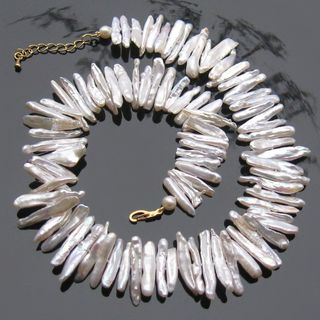 ожерелье из барочного белого жемчуга