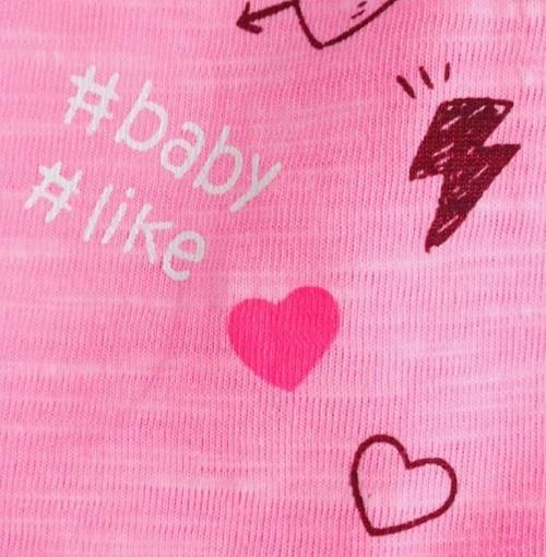 Розовая футболка для девочек Losan Free Baby с доставкой в интернет-магазине Мама Любит!