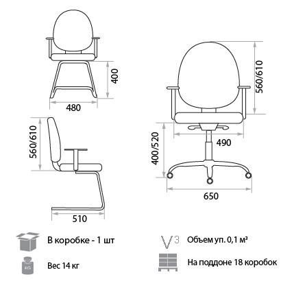 Кресло Гранд размеры