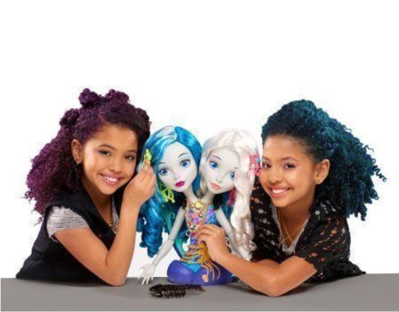 Игрушечный набор голова-манекен Пери и Перл