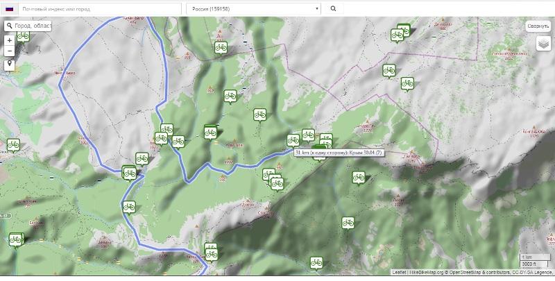 Скрин сайта GPSies