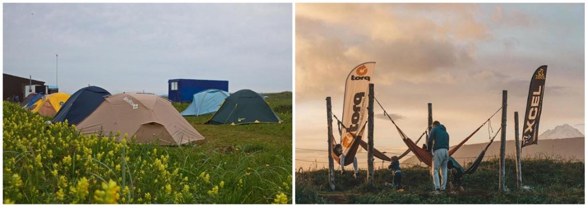 Палаточный кемп на Камчатке