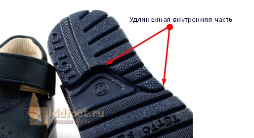 Удлиненная часть каблука Томаса