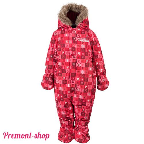 Комбинезон Premont Красные льдинки, вид спереди