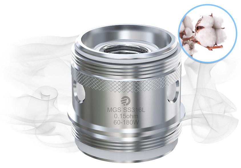 Испаритель Joyetech MGS SS316L использует чистый хлопок, который принесёт совершенно чистый аромат для вас.