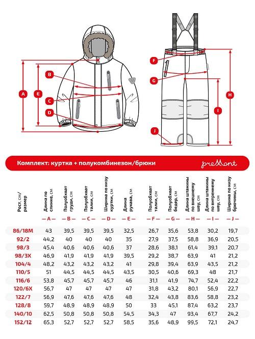 Размерная сетка комплекта Premont Эй Би Си WP92260