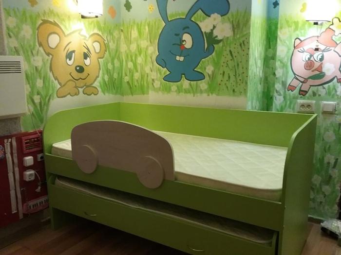 выкатная кровать мезонин-32