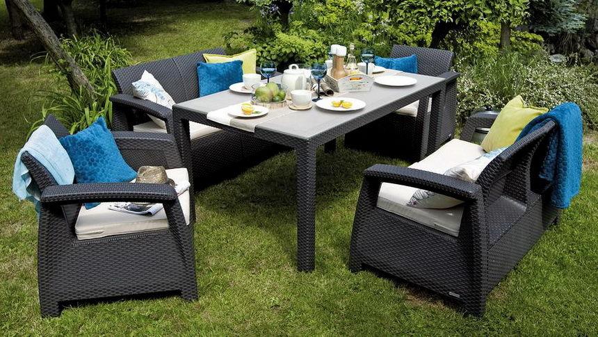 Купить дешево садовую мебель из ротанга