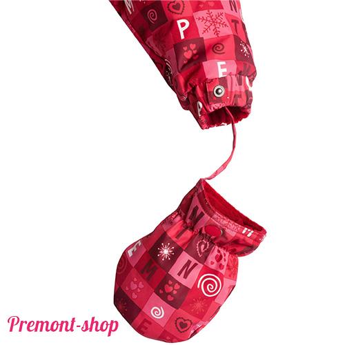Комбинезон Premont Красные льдинки, манжета с варежкой