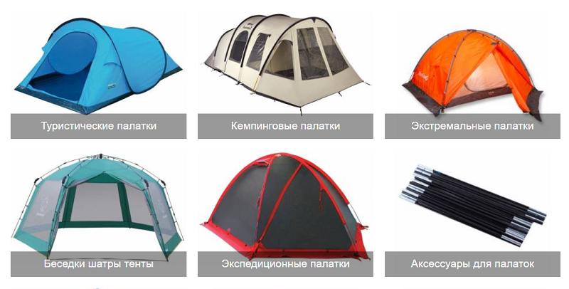 Разновидности палаток
