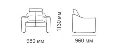 габаритные размеры кресла Макс-П8