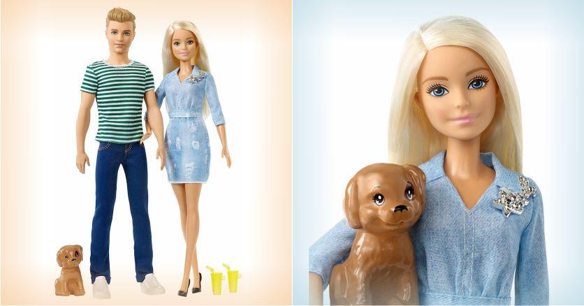 Набор с куклами Барби и Кен - На прогулке с щенком
