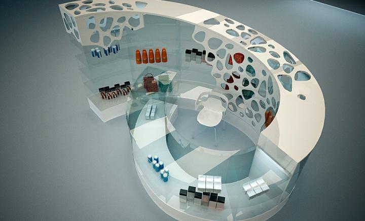 Бесплатный дизайнерский концепт торгового островка можно найти в интернете