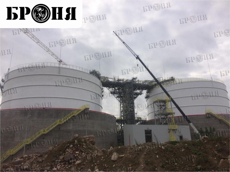 Кингисепп. Теплоизоляция изотермических резервуаров АО ЕвроХим-Северо-Запад